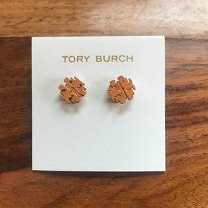 Tory Burch Rose Gold Stud Earrings